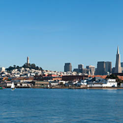 City at the waterfront, Aquatic Park, San Francisco, California, USA 2009