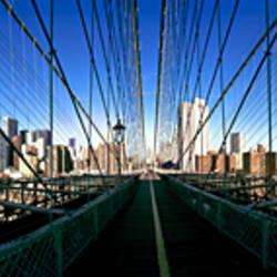 360 degree view of a bridge, Brooklyn Bridge, East River, Brooklyn, New York City, New York State, USA