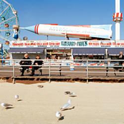Tourists at an amusement park, Coney Island, Brooklyn, New York City, New York State, USA