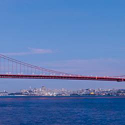 Suspension bridge across a bay, Golden Gate Bridge, San Francisco, California, USA