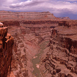 River passing through a canyon, Toroweap Overlook, North Rim, Grand Canyon National Park, Arizona, USA