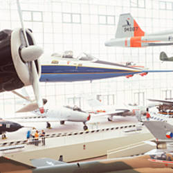 Interiors of a museum, Museum of Flight, Seattle, Washington State, USA
