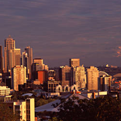 City viewed from Queen Anne Hill, Space Needle, Seattle, King County, Washington State, USA 2010