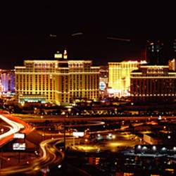 City lit up at night, Las Vegas, Nevada, USA