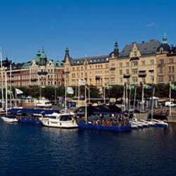 Boats at a harbor, Gamla Stan, Stockholm, Sweden