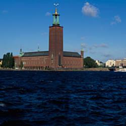 Buildings at the waterfront, Kungsholmen Town Hall, Kungsholmen, Lake Malaren, Stockholm, Sweden