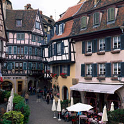 Half timbered houses in a town, Colmar, Haut-Rhin, Alsace, France