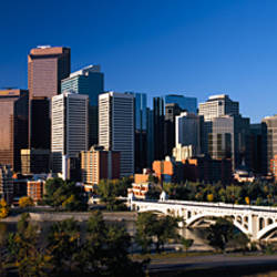 Buildings in a city, Centre Street Bridge, Calgary, Alberta, Canada