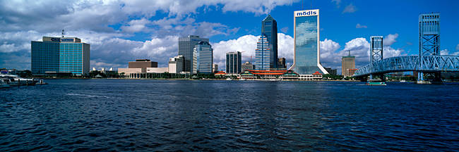 Buildings at the waterfront, St. John's River, Jacksonville, Duval County, Florida, USA