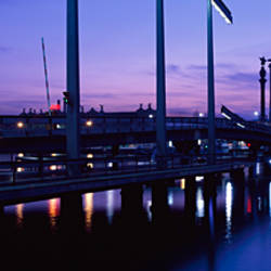 Bridge across the sea, Rambla De Mar, Port Vell, Barcelona, Catalonia, Spain