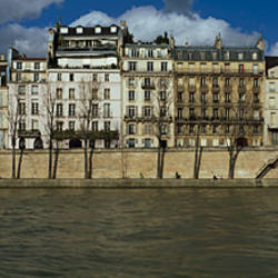 Buildings at the waterfront, Notre Dame De Paris, Seine River, Paris, Ile-De-France, France