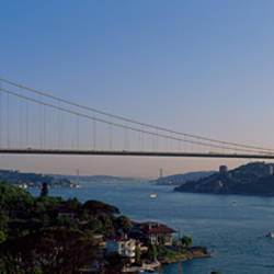 Bridge across the sea, Fatih Sultan Mehmet Bridge, Bosphorus, Istanbul, Turkey
