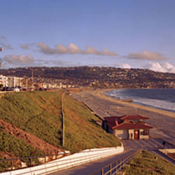 Cars in front of buildings, Redondo Beach, Los Angeles County, California, USA