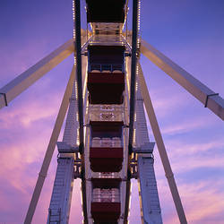 Low angle view of a ferris wheel, Navy Pier, Chicago, Illinois, USA