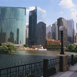 Buildings in a city, Chicago River, Chicago, Cook County, Illinois, USA