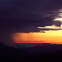 Storm clouds over a mountain range, Grand Canyon National Park, Mohave County, Arizona, USA
