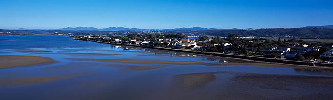 Aerial view of an island, Leisure Island, Knysna Lagoon, Knysna, The Garden Route, Western Cape Province, South Africa