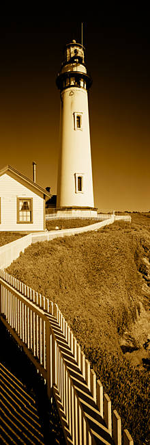 Lighthouse on a cliff, Pigeon Point Lighthouse, California, USA