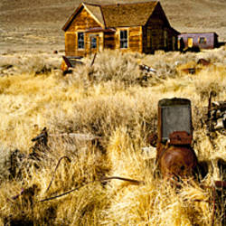 House in a ghost town, Bodie Ghost Town, Mono County, California, USA