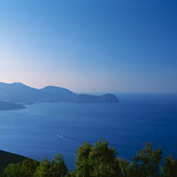 Islands in the sea, view from Vulcano, Aeolian Islands, Italy