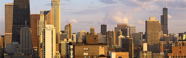 Skyscrapers in a city, Chicago, Cook County, Illinois, USA