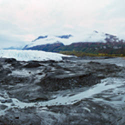 Glacier on a landscape, Matanuska Glacier, Alaska, USA