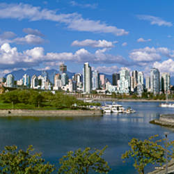 Buildings in a city, Vancouver, British Columbia, Canada