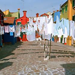 Clothesline in a street, Burano, Veneto, Italy