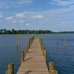 Pier on the sea, Machipongo, Virginia, USA