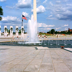 Fountain at a memorial, National World War II Memorial, Washington Monument, Washington DC, USA