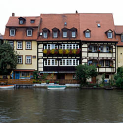 Buildings at the waterfront, Bamberg, Bavaria, Germany