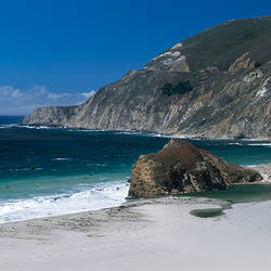 Rock formation on the beach, Big Sur, California, USA