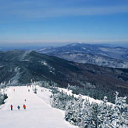 High angle view of a ski resort, Sugarbush Resort, Warren, Washington County, Vermont, USA