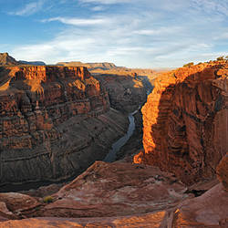 River passing through mountains, Toroweap Point, Grand Canyon, Grand Canyon National Park, Arizona, USA