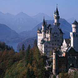Castle on a hill, Neuschwanstein Castle, Bavaria, Germany