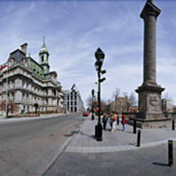 360 degree view of a city, Montreal, Quebec, Canada
