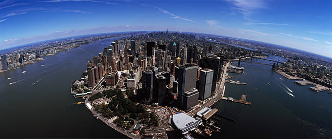 Aerial view of a city, New York City, New York State, USA