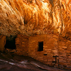 Ruined of an ancient fire house, Cedar Mesa, San Juan County, Utah, USA