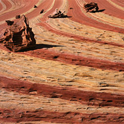 High angle view of rock formations, Vermillion Cliffs, Vermilion Cliffs National Monument, Arizona, USA