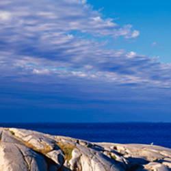 Low Angle View Of A Lighthouse, Peggy's Cove, Nova Scotia, Canada
