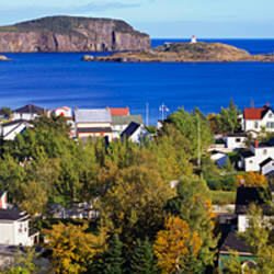 Buildings at the coast, Trinity Bay, Trinity, Newfoundland Island, Newfoundland and Labrador Province, Canada