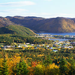 High angle view of Norris Point, near Gros Morne National Park, Newfoundland & Labrador, Canada