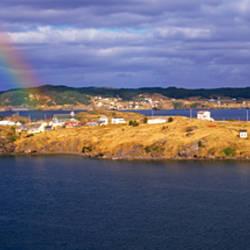 Buildings at the coast, Trinity Bay, Trinity, Newfoundland Island, Newfoundland and Labrador Province, Canada