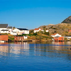 Fishing village on an island, Salvage, Newfoundland, Newfoundland and Labrador, Canada
