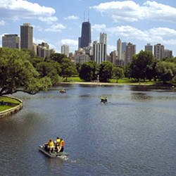 Paddleboat in a pond, South Pond, Lincoln Park, Chicago, Cook County, Illinois, USA