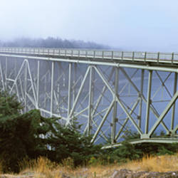 Bridge across the river, Deception Pass Bridge, Deception Pass, Whidbey Island and Fidalgo Island, Washington State, USA