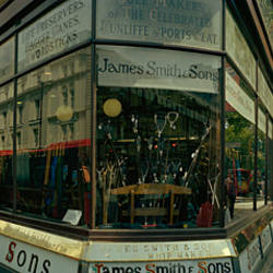 Historic shop in a street, James Smith and Sons shop, Oxford Street, London, England