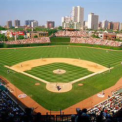High Angle View Of A Stadium, Wrigley Field, Chicago, Cook County, Illinois Part 39