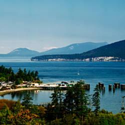 Ferry in a lake, Washington State Ferries, Washington State, USA