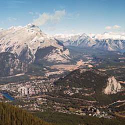 Snowcapped mountain range, Banff National Park, Alberta, Canada